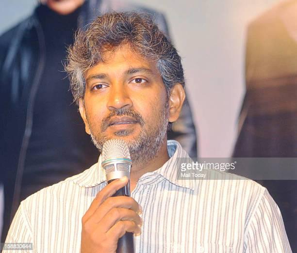 Rajamouli during a press meet at Viswaroopam audio release in Mumbai on Sunday