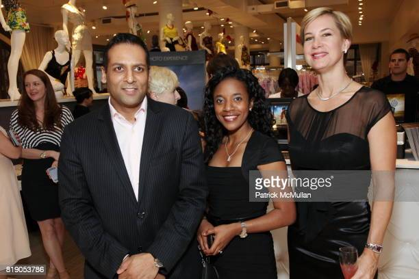 Rajan Shah Danielle Jones and Tracey Trachta attend VOGUE and HP Host Cocktails and Fashion Presentation to Preview the HP Spring 2010 Collection at...