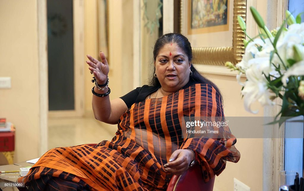 Rajasthan Chief Minister Vasundhara Raje during an exclusive Interview with Hindustan Times on the eve of the anniversary of her government...