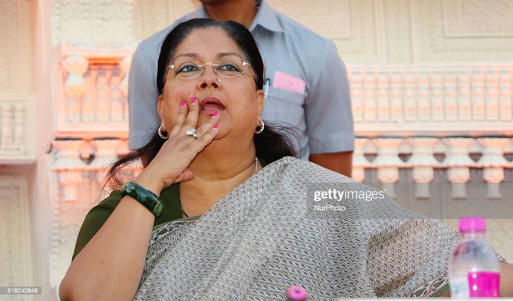 Rajasthan Chief Minister Vasundhara Raje during the closing ceremony and grand procession of 'Rajasthan Festival' at Janpath in Jaipur on 30th...