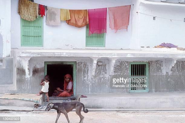 Rajasthan In Pushkar India A street scene in Pushkar