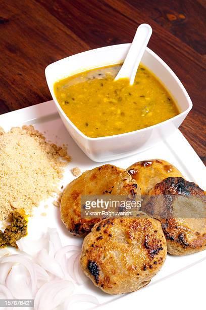 Rajasthani Dish Cusine Meal called Dal Baati Churma