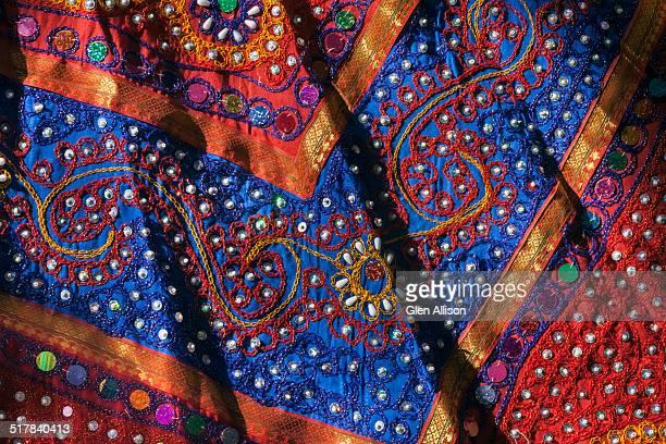 Rajasthani embroidered tribal dress fabric