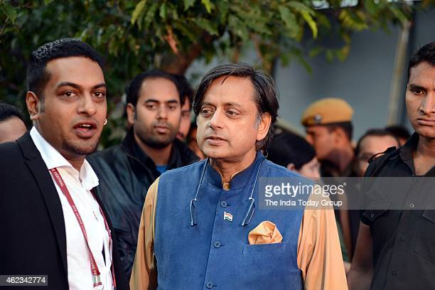 Shashi Tharoor during Jaipur Literature Festival 2015 in Jaipur