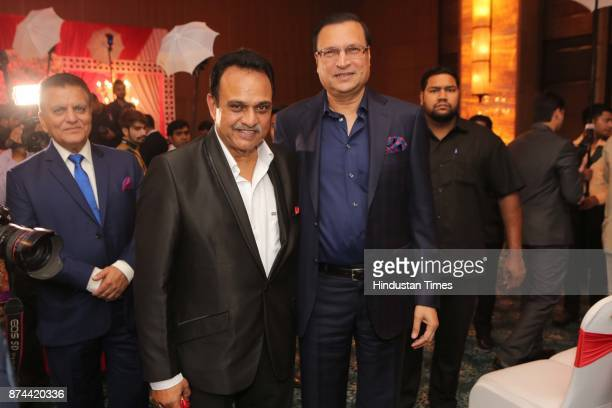Rajat Sharma chairman and editor in chief of news channel India TV during the wedding reception party of Cricketer Yashpal Sharma's daughter Preeti...