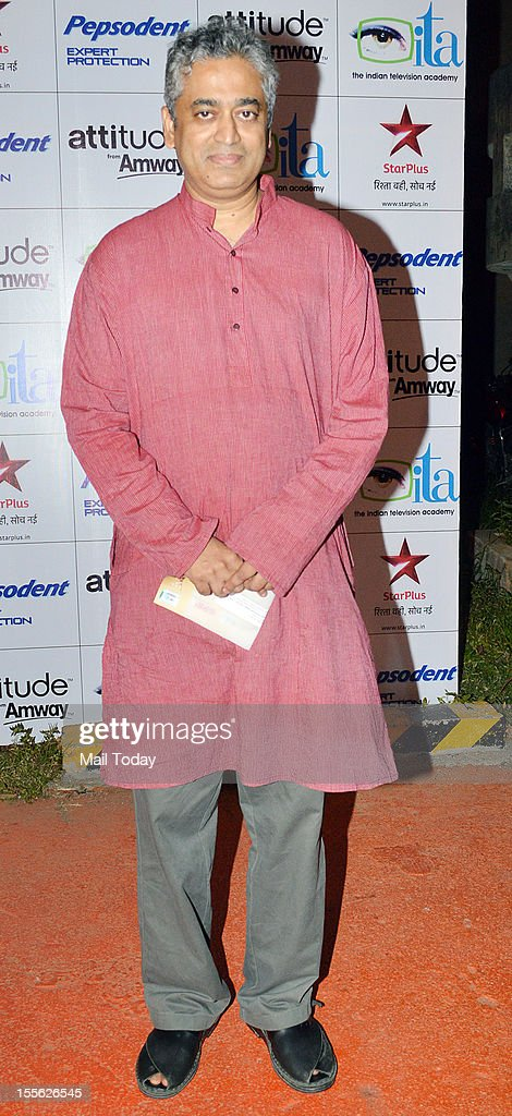 Rajdeep Sardesai during Indian Television Academy Awards 2012 (ITA Awards), held in Mumbai on November 4, 2012.