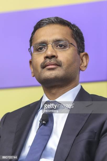 Rajesh Gopinathan chief executive officer and managing director of Tata Consultancy Services Ltd attends an earnings announcement news conference in...