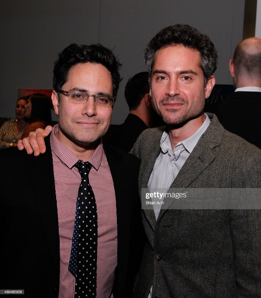 Rajiv Joseph and Omar Metwally attend The 2013 Steinberg Playwright 'Mimi' Awards presented by The Harold and Mimi Steinberg Charitable Trust at Lincoln Center Theater on November 18, 2013 in New York City.