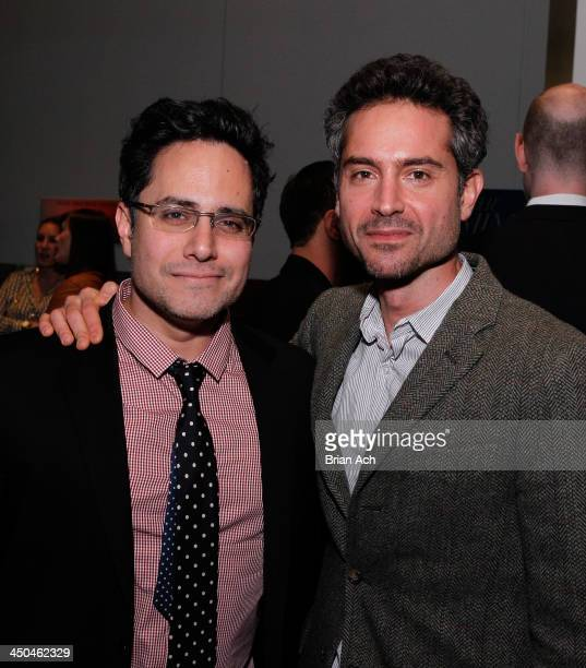 Rajiv Joseph and Omar Metwally attend The 2013 Steinberg Playwright 'Mimi' Awards presented by The Harold and Mimi Steinberg Charitable Trust at...