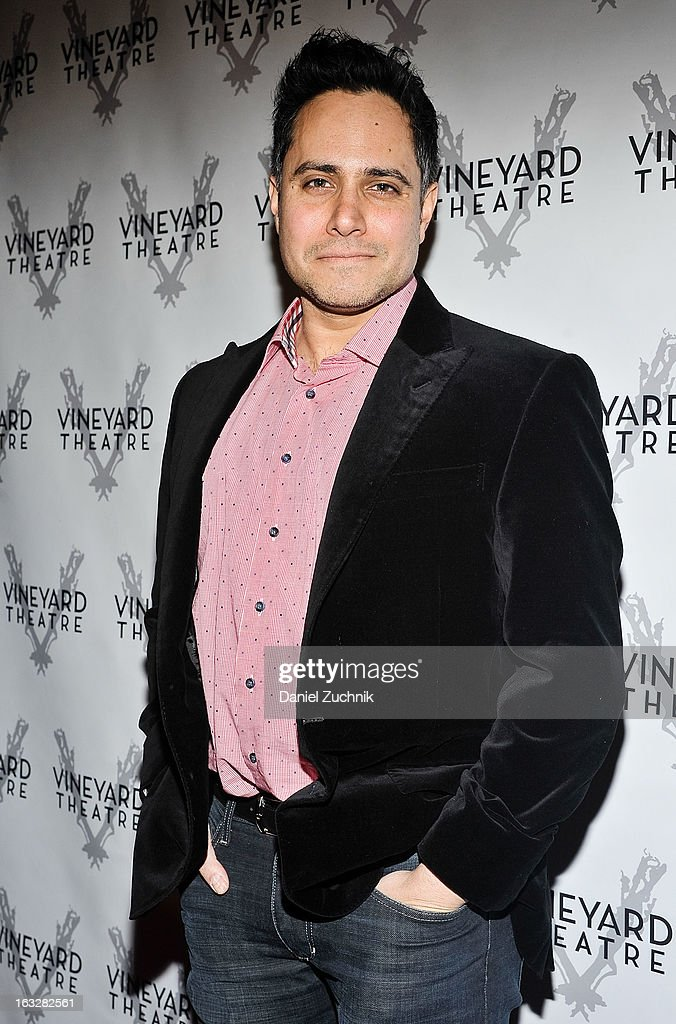 Rajiv Joseph attends the off Broadway opening night of 'The North Pool' at Vineyard Theatre on March 6, 2013 in New York City.