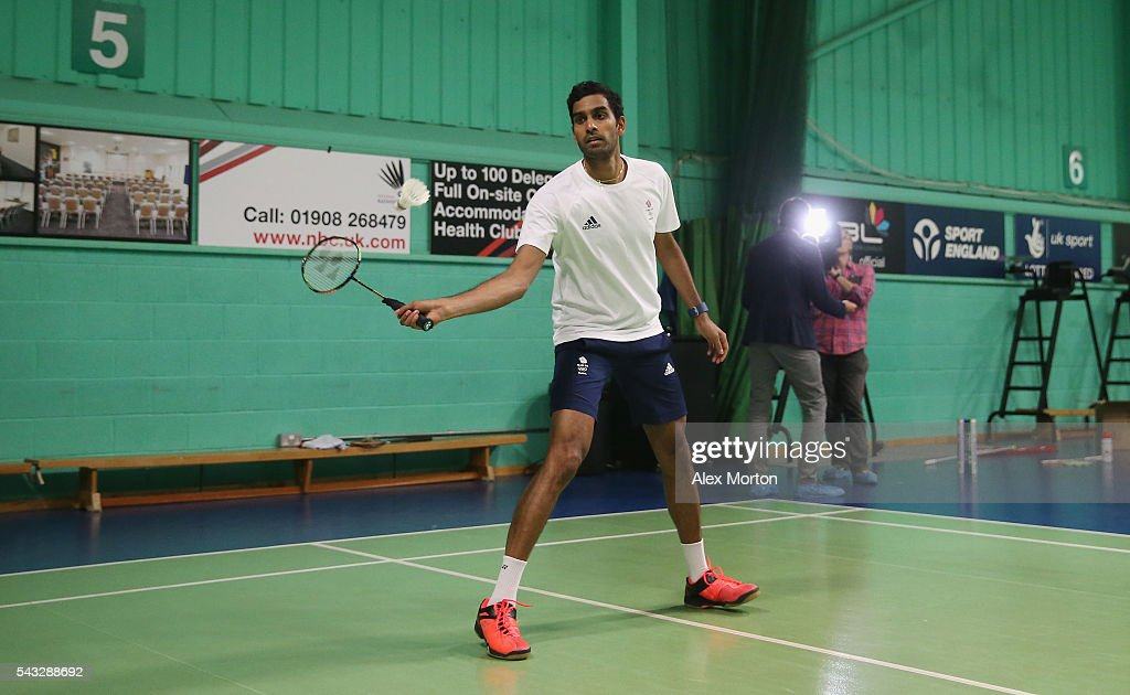 Rajiv Ouseph of Team GB during the Announcement of Badminton Athletes Named in Team GB for the Rio 2016 Olympic Games at the National Badminton Centre on June 27, 2016 in Milton Keynes, England.