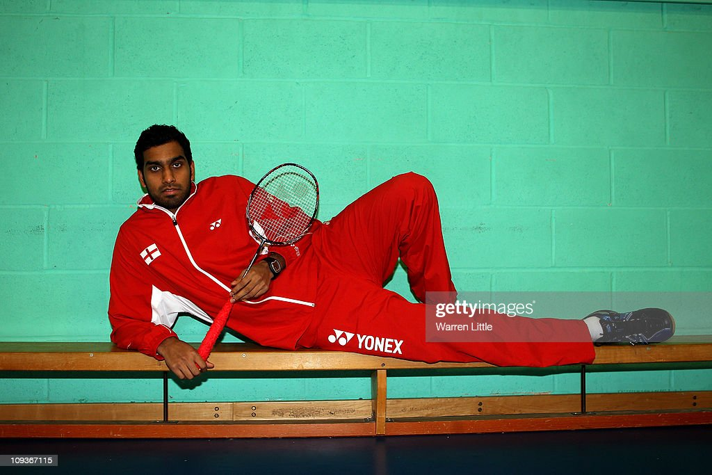 Rajiv Ouseph of the England Badminton squad poses for a picture at the National Badminton Centre on February 23, 2011 in Milton Keynes, England.