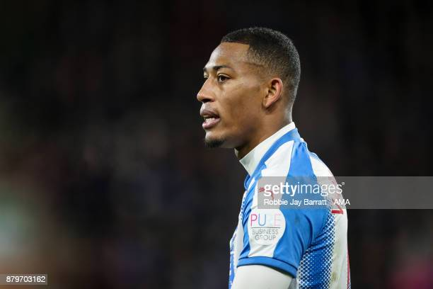 Rajiv Van La Parra of Huddersfield Town during the Premier League match between Huddersfield Town and Manchester City at John Smith's Stadium on...