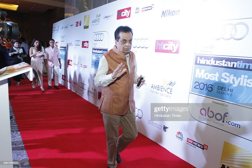 Rajiv Verma, CEO, HT Media arriving at red carpet for Hindustan Times Most Stylish Awards 2016 at hotel JW Marriot, Aerocity on May 24, 2016 in New Delhi, India.