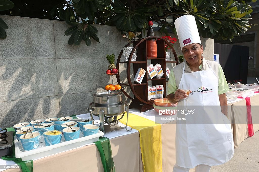 Rajiv Verma, CEO, HT Media Ltd, during the 12th edition of Genesis Foundation's fund raiser, 'CEOs Cook For GF Kids' to support better life for underprivileged kids, top corporate honchos got together to raise funds through a charity cooking session, on February 6, 2016 in Gurgaon, India. The attendees booked tables and sampled the delicious fare served by the CEO-turned-chefs.