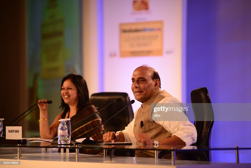 Rajnath Singh - BJP Leader speaking at HT leadership Summit on November 21, 2014 in New Delhi, India.