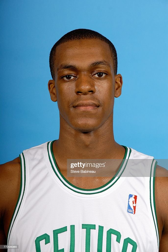 Rajon Rondo of the Boston Celtics poses for a portrait during NBA Media Day at the Celtics Practice Facility on September 28 2007 in Waltham...