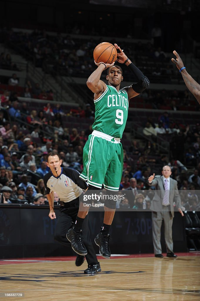 <a gi-track='captionPersonalityLinkClicked' href=/galleries/search?phrase=Rajon+Rondo&family=editorial&specificpeople=206983 ng-click='$event.stopPropagation()'>Rajon Rondo</a> #9 of the Boston Celtics takes a shot against the Detroit Pistons on November 18, 2012 at The Palace of Auburn Hills in Auburn Hills, Michigan.
