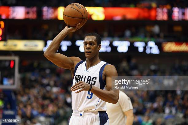 Rajon Rondo of the Dallas Mavericks at American Airlines Center on March 2 2015 in Dallas Texas NOTE TO USER User expressly acknowledges and agrees...
