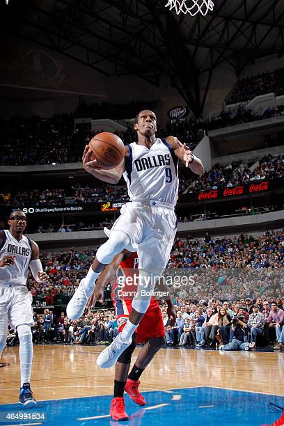 Rajon Rondo of the Dallas Mavericks shoots against the New Orleans Pelicans on March 2 2015 at the American Airlines Center in Dallas Texas NOTE TO...