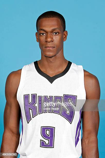 Rajon Rondo of the Sacramento Kings poses for a head shot on media day September 28 2015 at the Kings practice facility in Sacramento California NOTE...
