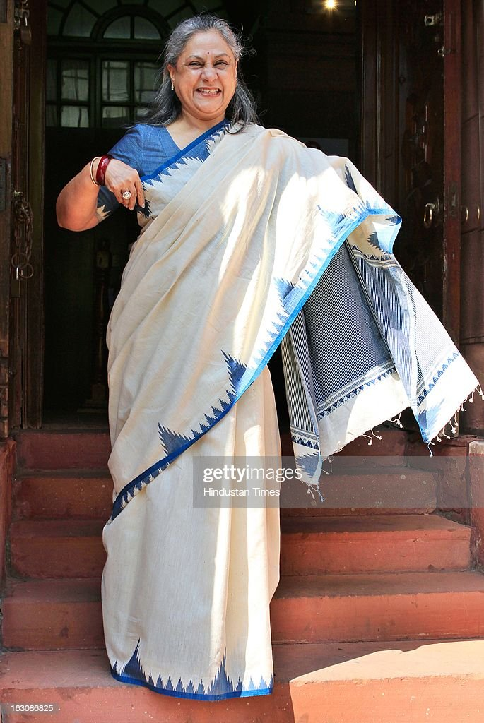 Rajya Sabha MP Jaya Bachchan at Parliament during the Budget session on March 4, 2013 in New Delhi, India. Parliament failed to transact any business today as the Opposition members created uproar over hike in fuel prices and demanded immediate rollback.