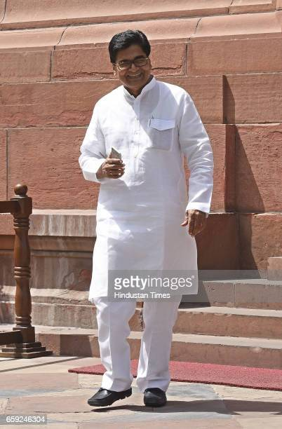 Rajya Sabha MP Pro Ram Gopal Yadav after attending the Parliament Budget Session part2 on March 28 2017 in New Delhi India The government has listed...