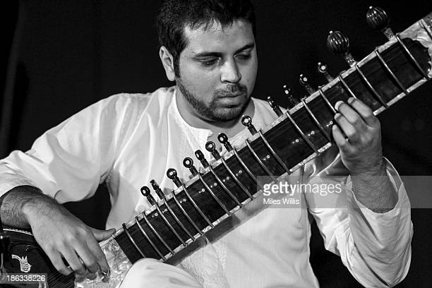 Rakae Jamil of Pakistan plays the Sitar as part of MOCAfest during the World Islamic Economic Forum at ExCel on October 30 2013 in London England