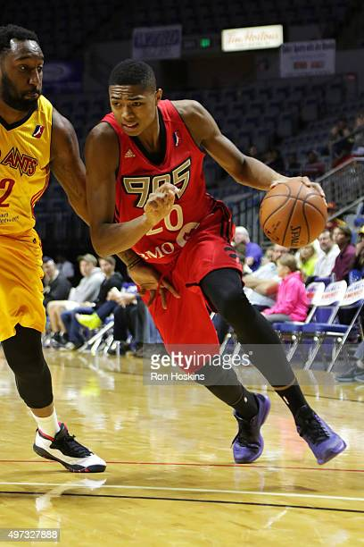 Rakeem Christmas defends Bruno Caboclo of the Fort Wayne Mad Ants of the Raptors 905 during their NBDL game at Memorial Coliseum November 15 2015 in...