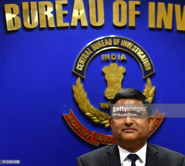 Rakesh Asthana Additional Director CBI during a press conference after CBI registers a case against Lalu Prasad Yadav wife and his son on July 7 2017...