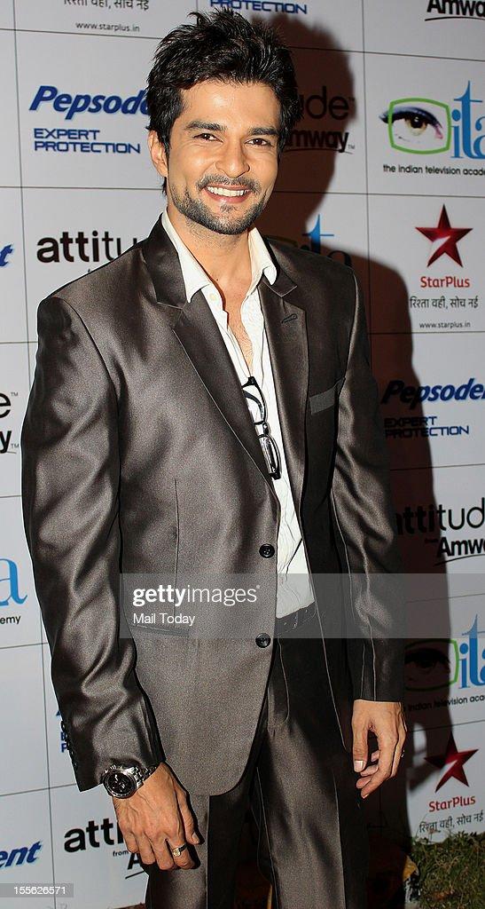 Rakesh Bapat during Indian Television Academy Awards 2012 (ITA Awards), held in Mumbai on November 4, 2012.
