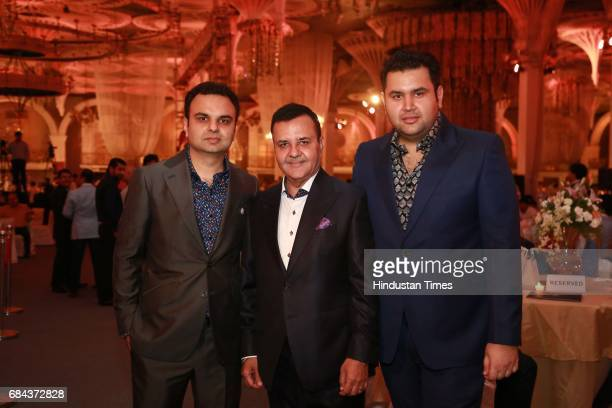 Rakesh Kapoor Elan Group Chairman with Directors Akash Kapoor and Ravish Kapoor during the launch of prestigious project Elan Miracle hosted by Real...
