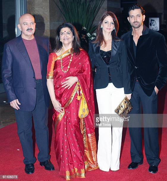 Rakesh Pinky Suzanne and Hrithik Roshan at Big Pictures' success bash held in Mumbai on February 28 2010