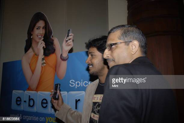 Rakesh Singh COO of Spice Communications Ltd at the launch of Spice eBerry a break through service that extends the luxury convenience of push mail...
