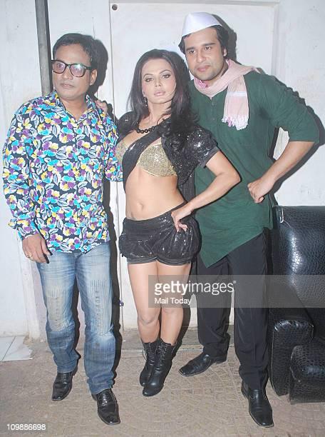 Rakhi Sawant and Krishna Abhishek on the sets of Comedy Circus