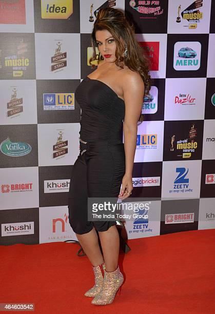Rakhi Sawant at Mirchi music awards in Mumbai