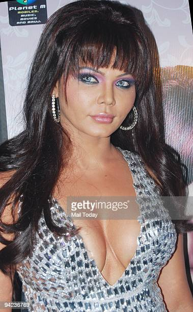 Rakhi Sawant at the launch of her album Jhagde with Ishq Bector in Mumbai on Monday December 7 2009