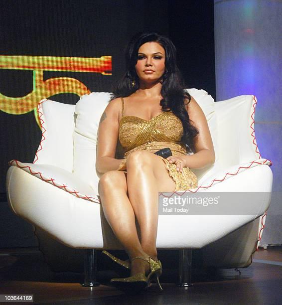 Rakhi Sawant at the launch of her show 'Rakhi Ka Insaaf' in Mumbai on August 24 2010