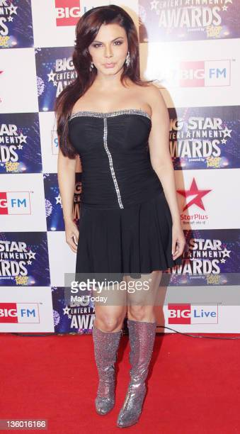 Rakhi Sawant during 'BIG Star Awards 2011' at Bhavan's college ground in Mumbai on December 19 2011