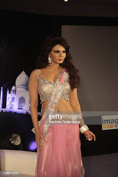 Rakhi Sawant during the launch of her new show Gajab Desh Ki Ajab Kahaniyaanon on Tuesday July 26 2011