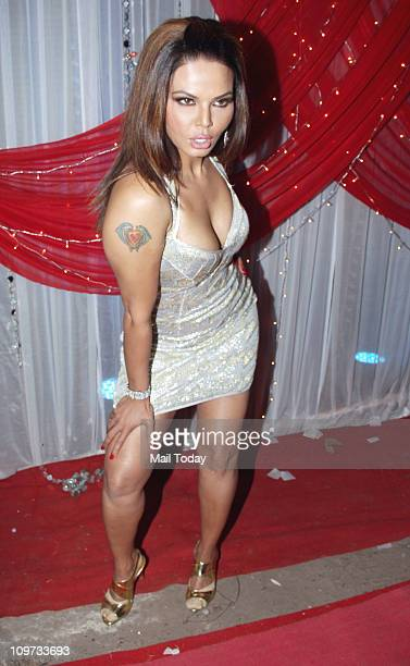 Rakhi Sawant on the sets of the TV show 'Comedy Circus'