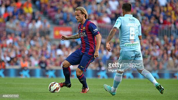 Rakitic of FC Barcelona controls the ball during the La Liga match between FC Barcelona and Granada CF at Camp Nou on September 27 2014 in Barcelona...