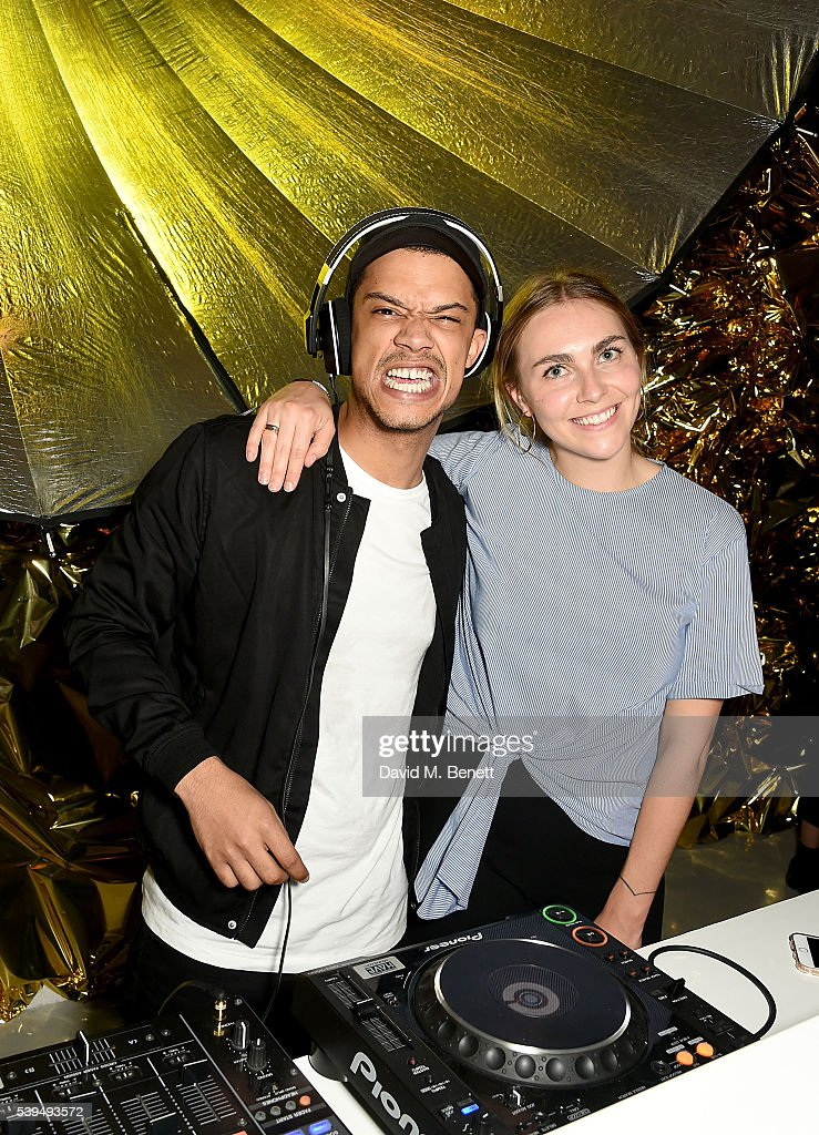 Raleigh Ritchie and Becky Tong at the Moet NOW Or Neverland Party celebrating the first champagne spray moment nearly 50 years ago by Dan Guerney at...