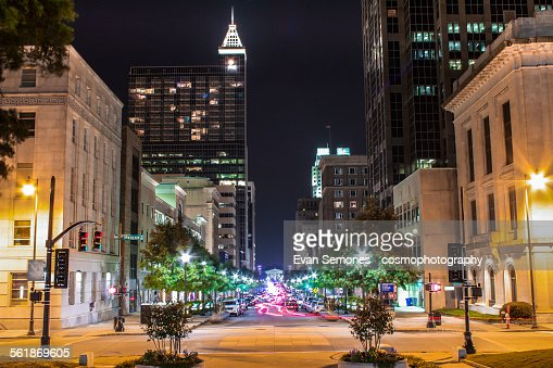 Raleigh's Fayetteville Street at night