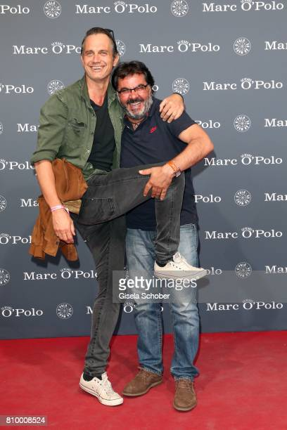 Ralf Bauer and Antonio Putignano during the 50th anniversary celebration of Marc O'Polo at its headquarters on July 6 2017 in Stephanskirchen near...