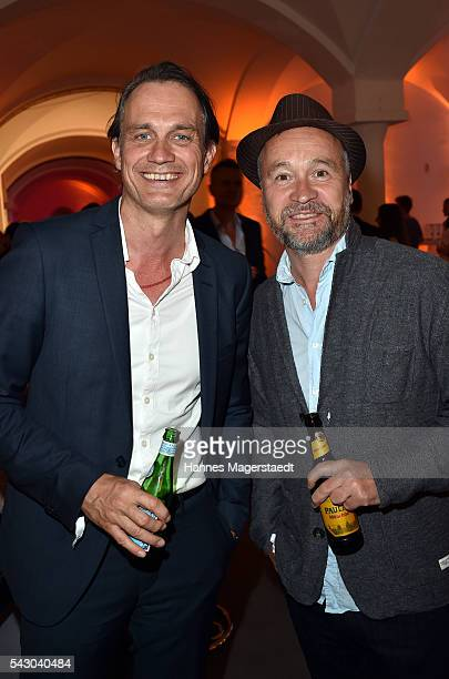 Ralf Bauer and Thomas Darchinger during the Audi Director's Cut during the Munich Film Festival 2016 at Praterinsel on June 25 2016 in Munich Germany