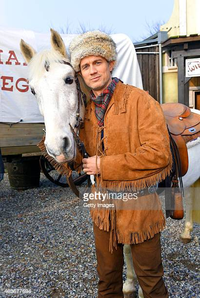 Ralf Bauer attends a press conference presenting new Karl May production 'Im Tal des Todes' at Open Air Theatre at the Kalkberg on February 17 2015...