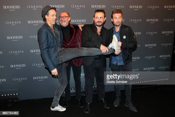 Ralf Bauer Micky Rosen Owner of Gekko Group/Roomers Alex Urseanu Owner of Gekko Group/Roomers and Sebastian Hoeffner during the grand opening of...