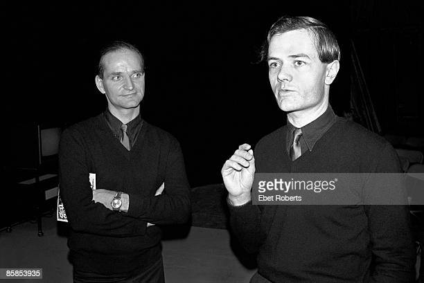 Photo of Ralf HUTTER and Florian SCHNEIDER and KRAFTWERK Florian Schneider and Ralf Hutter posed at party