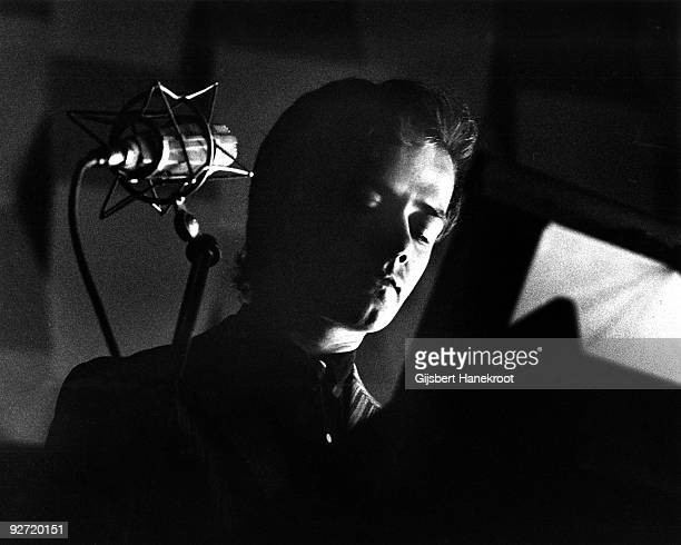 Ralf Hutter from Kraftwerk performs live in Rotterdam at the SF Festival on March 21 1976